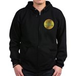 Here Comes the Surya Namaskar Zip Hoodie (dark)