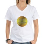 Here Comes the Surya Namaskar Women's V-Neck T-Shi