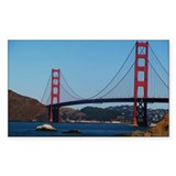 Golden Gate Bridge from Baker Rectangle Decal