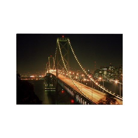 Oakland Bay Bridge Rectangle Magnet (100 pack)