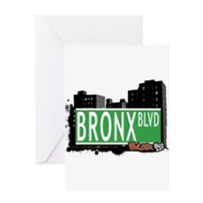 Bronx Blvd, Bronx, NYC Greeting Card