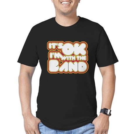 I'm With The Band Mens Fitted Dark T-Shirt