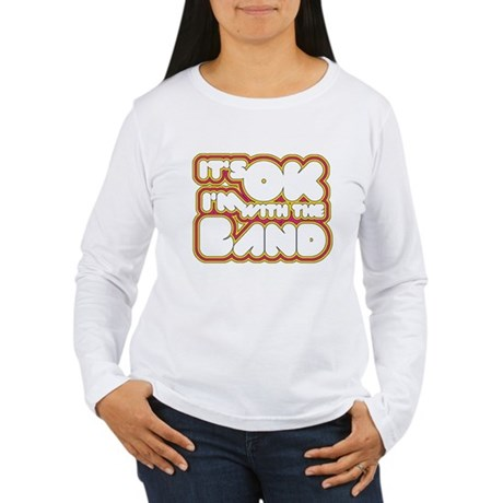 I'm With The Band Womens Long Sleeve T-Shirt