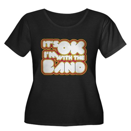 I'm With The Band Womens Plus Size Scoop Neck Dar