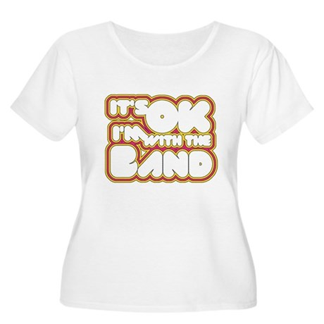 I'm With The Band Womens Plus Size Scoop Neck T-S