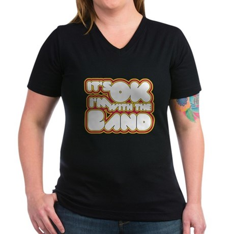 I'm With The Band Womens V-Neck T-Shirt