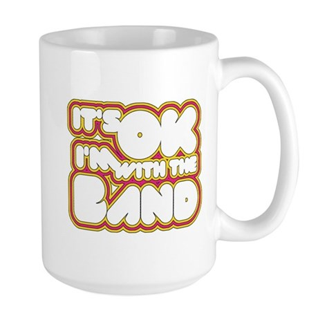 I'm With The Band Large Mug