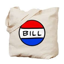 Bill Button Tote Bag