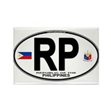Philippines Euro Oval Rectangle Magnet