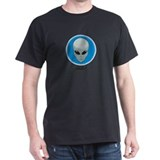 Alien Golf  Black T-Shirt