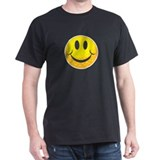 Golf Smilie  Black T-Shirt