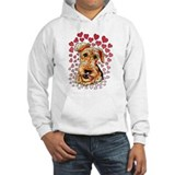Airedale Terrier Hearts Hoodie