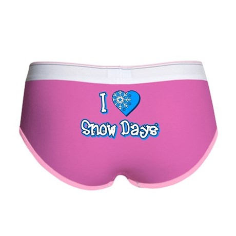 I Love [Heart] Snow Days Womens Boy Brief