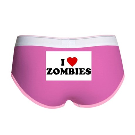 I Love [Heart] Zombies Womens Boy Brief