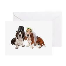 Basset Wedding Greeting Cards (Pk of 20)