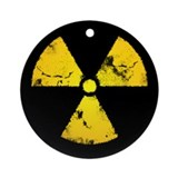 Distressed Radiation Symbol Ornament (Round)