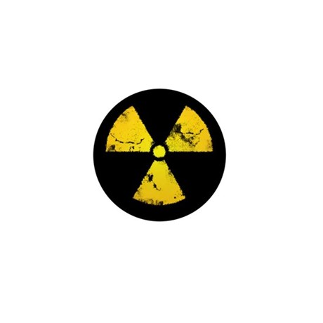 Distressed Radiation Symbol Mini Button