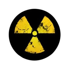 "Distressed Radiation Symbol 3.5"" Button"