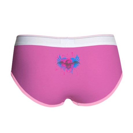 Splatter Skull Womens Boy Brief