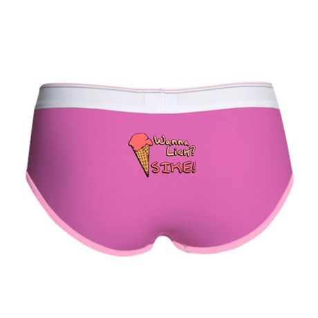 Wanna Lick? Womens Boy Brief