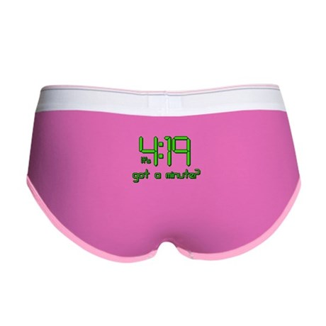 It's 4:19 Got a Minute? (420) Womens Boy Brief