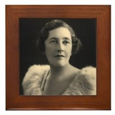 Agatha Christie Framed Tile