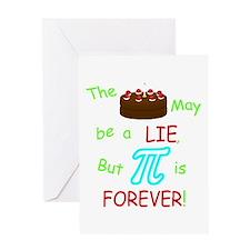 Cake vs Pi Greeting Card