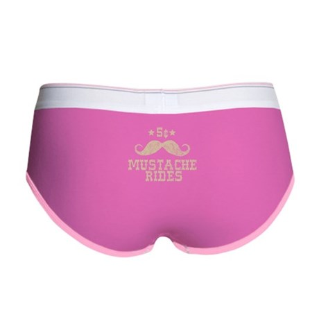 5¢ Mustache Rides Womens Boy Brief