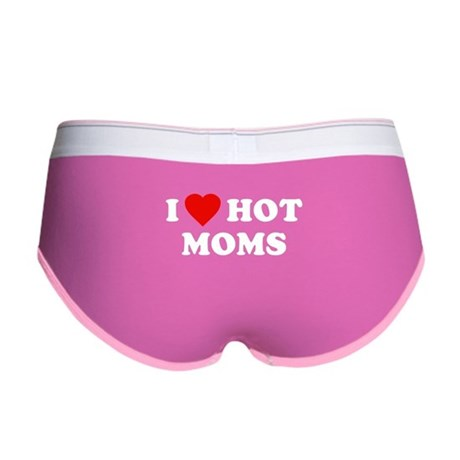 I Love [Heart] Hot Moms Womens Boy Brief