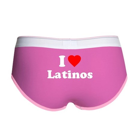 I Love [Heart] Latinos Womens Boy Brief