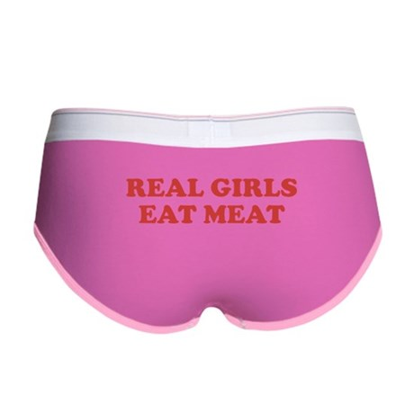 Real Girls Eat Meat Womens Boy Brief
