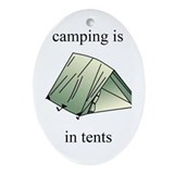 in tents Oval Ornament