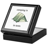 in tents Keepsake Box