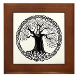 Celtic Wisdom Tree I.V. Framed Tile