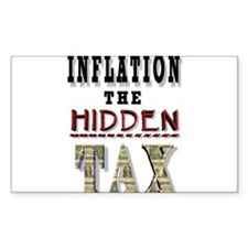 INFLATION HIDDEN TAX Rectangle Sticker 10 pk)