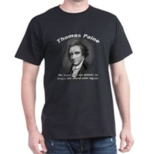 Thomas Paine 01 Black T-Shirt