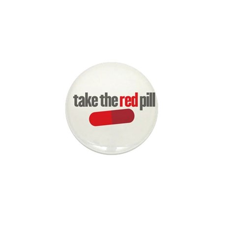 Take the red pill Mini Button (100 pack)
