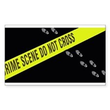 Crime Scene Rectangle Sticker 10 pk)