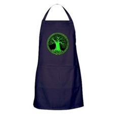Green Wisdom Tree Apron (dark)