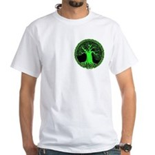 Green Celtic Wisdom Tree Shirt (pocket)