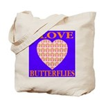 I Love Butterflies Heart Flor Tote Bag