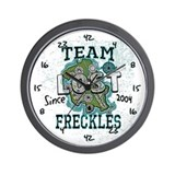 Team Freckles Wall Clock