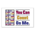 Count on Me Sticker (Rectangle 10 pk)