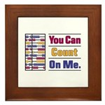 Count on Me Framed Tile