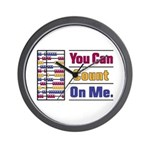Count on Me Wall Clock