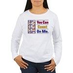 Count on Me Women's Long Sleeve T-Shirt