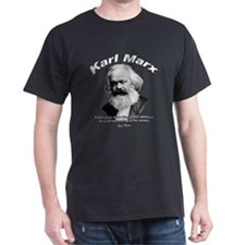 Karl Marx 02 Black T-Shirt