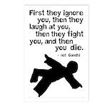Then You Die Gandhi Satire Postcards