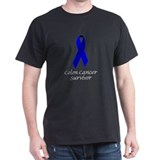 Colon Cancer Survivor Ribbon on T-Shirt