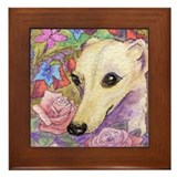 Shy flower Framed Tile